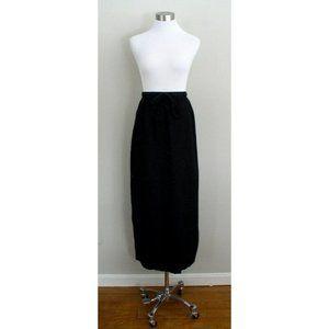 Hot Cotton by Marc Ware Womens Black Linen Skirt L